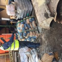 Pallets of cement bags
